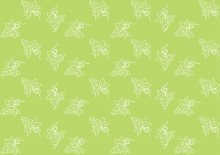 Seamless pattern with grapes on a green background