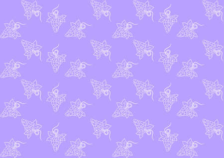 Seamless pattern with grapes on purple background Stock Vector - 16215664