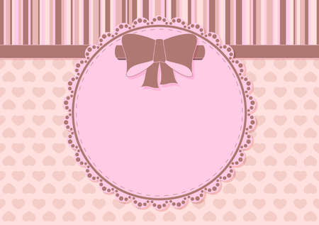 Greeting card with bow and place for text on the various holidays Vector