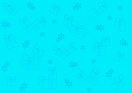 Seamless blue pattern with gifts and snowflakes Stock Vector - 16439382
