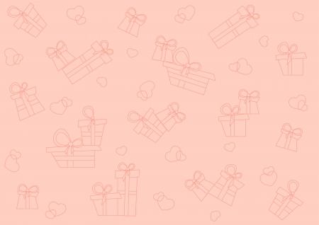 Pink seamless pattern with gifts and hearts Stock Vector - 16439373