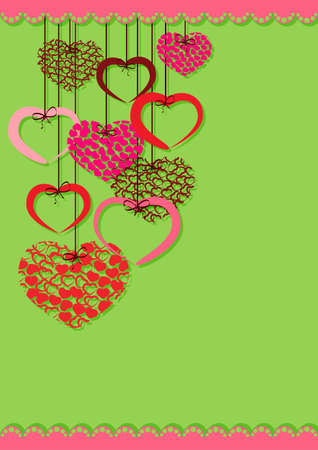 Greeting card with heart and place for text on the various holidays