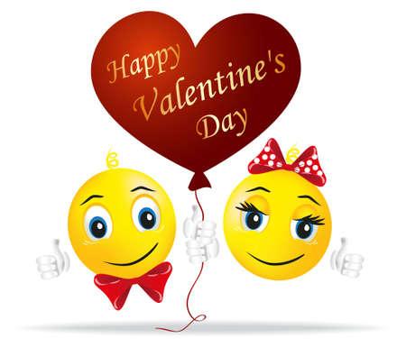 smiley pouce: Horoscope amoureux tenait dans sa main ballon en forme de coeur comme symbole de l'amour