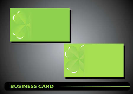 business card St. Patrick's Day clover on a green background Stock Vector - 17194032