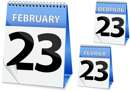 icon in the form of a calendar for 23 February Vector