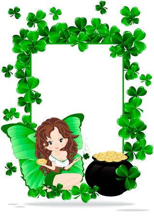 Greeting card for the holiday St  Patrick Vector