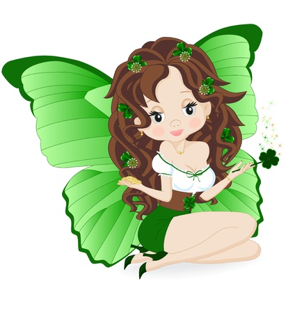irish woman: magical fairy for the holiday St  Patrick s Day Illustration
