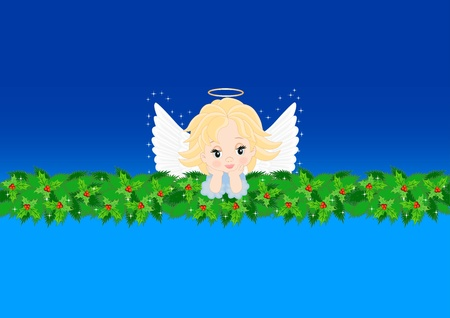 greeting card with an angel for different holidays Vector