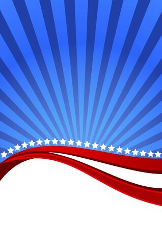 American background for Independence Day on July 4 Vector