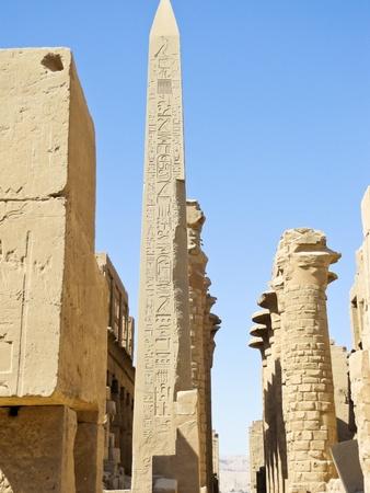 Las antiguas ruinas del templo de Karnak en Luxor, en Egipto