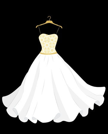 traditional   dress: white wedding dress on the hanger