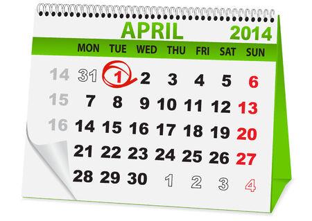 bobo: icono en forma de un calendario para el d�a tonto