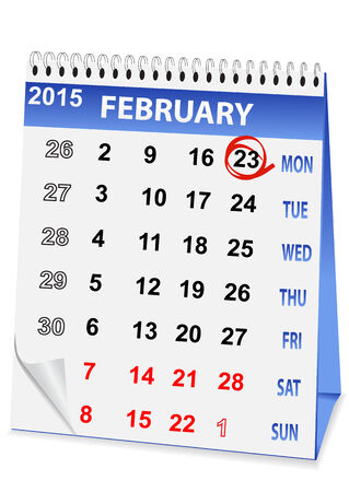 23: icon in the form of a calendar for 23 February