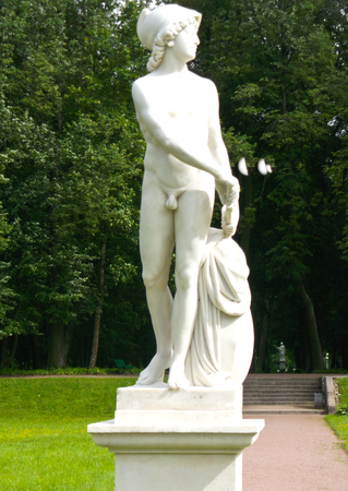 statue on postomente in the open air