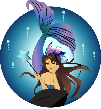 Fairy in bubble holding wand Stock Vector - 5527408