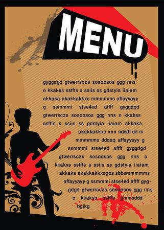 Music menu Stock Vector - 5527414