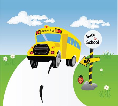 Bus School Stock Vector - 5527409