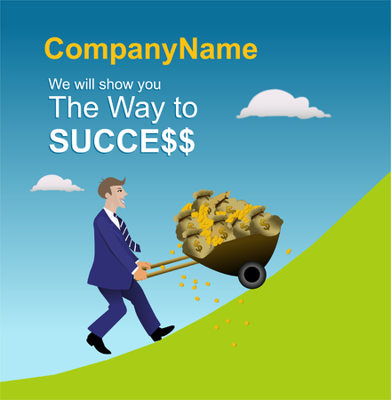 The way to sucess Stock Vector - 5527413