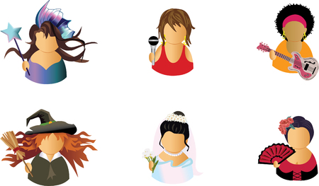 Avatar icons  Stock Vector - 5588666
