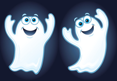 ghostly: Two Happy Ghosts Illustration