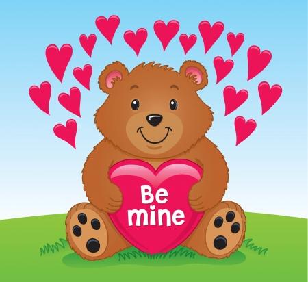 valentine s day teddy bear: Valentine s Day Bear Holding a Heart