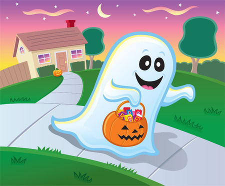 trick or treating: Ghost Trick or Treating on Halloween