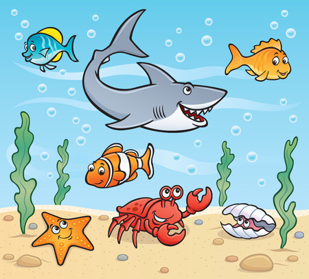 Underwater Sea Life Scene