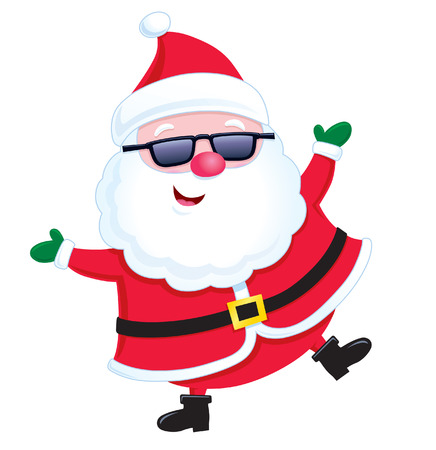 'yule tide': Santa Claus Wearing Sunglasses