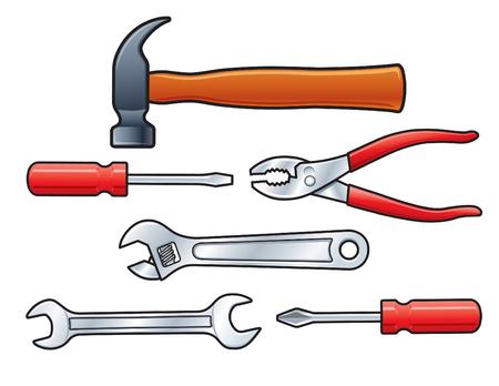 手のツールのセット