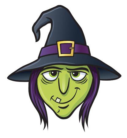 Wicked Witch Gezicht Stock Illustratie