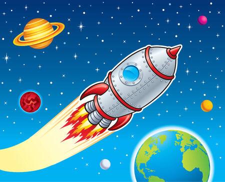blasting: Retro Rocket Blasting Through Space