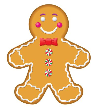 Iced Gingerbread Man Cookie