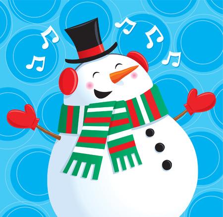 Singing Snowman Illustration