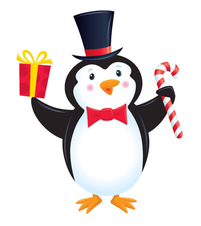 'yule tide': Penguin In A Top Hat