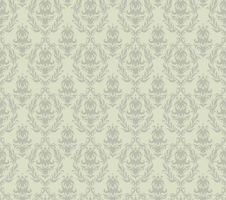 Gray Damask Seamless Pattern Ilustração
