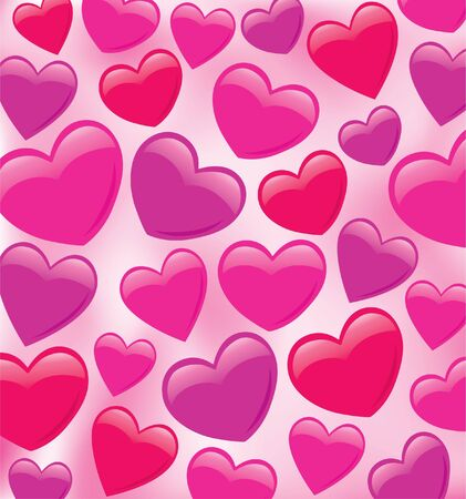 Shiny Plumped Heart Pattern