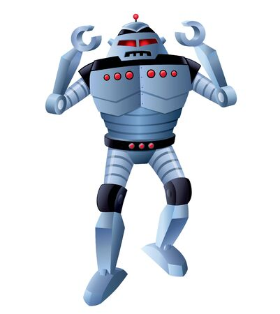 Angry Robot with Arms Up
