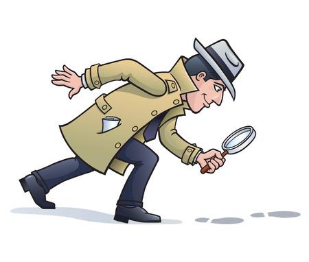 Sleuth en busca de pistas Ilustración de vector