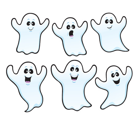 Six Spooky Ghosts for Halloween