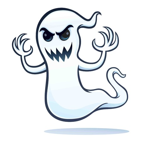 Spooky Angry Ghost Ilustrace