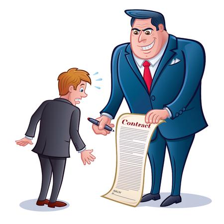 Zakenman met contract Stock Illustratie