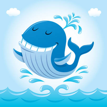 Smiling Whale In The Air