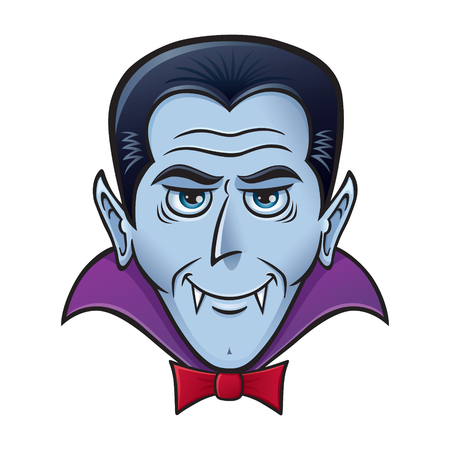 A halloween Vampire Face. 矢量图像