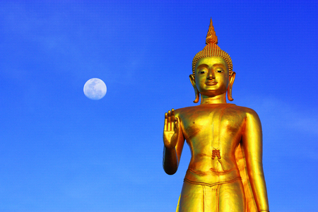 handsign: Buddha at Hatyai, SongKha, Thailand