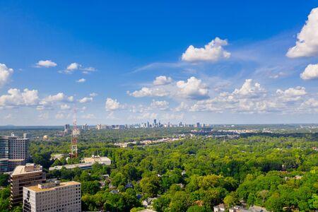Aerial view Buckhead from Midtown Atlanta 写真素材