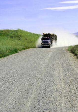 La tala de camiones cargados  Foto de archivo - 226325