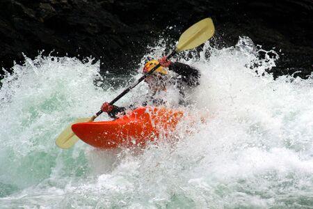 a kayaker