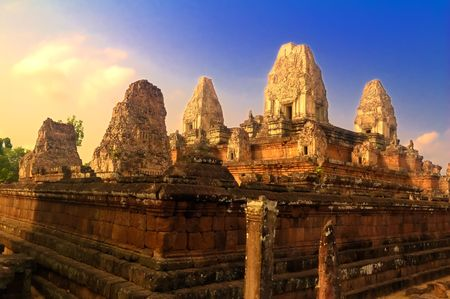Preah Rup temple in province Siem Reap, Cambodia photo