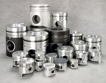 pistons: a set of metal pistons