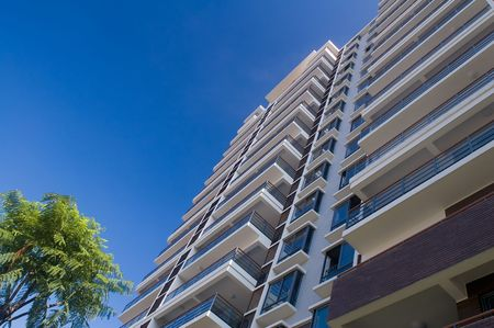 Tall office and residential building view from ground  Stock Photo - 3323933
